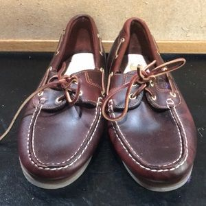 Timberland brown leather loafers size 10